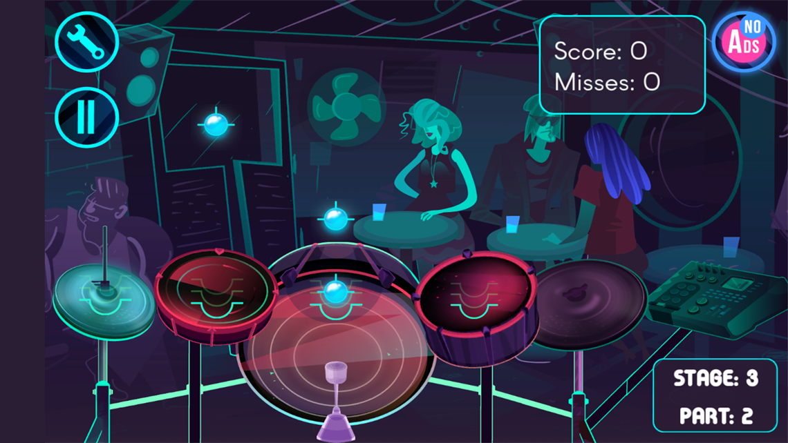 Electronic Drums Game